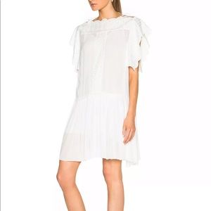 Isabel Marant Etoile Amel White drop waist dress